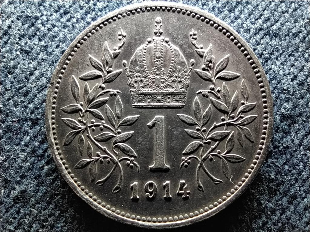 Ausztria Ferenc József  Osztrák-Magyar .835 ezüst 1 Korona