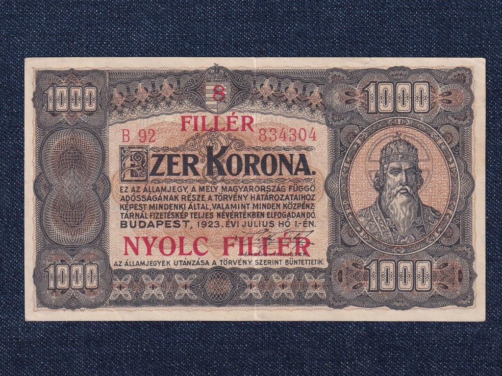 Kisméretű Korona államjegyek 1000 Korona bankjegy