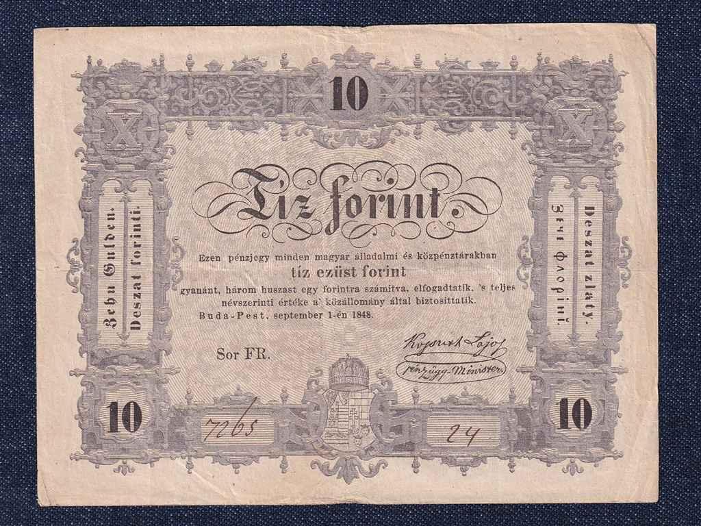 Szabadságharc (1848-1849) Kossuth bankó 10 Forint bankjegy