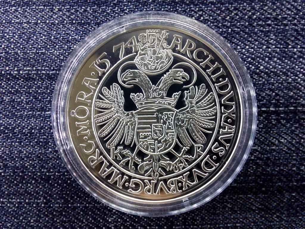 Magyar tallérok utánveretben II. Miksa tallér 1574 .999 ezüst PP