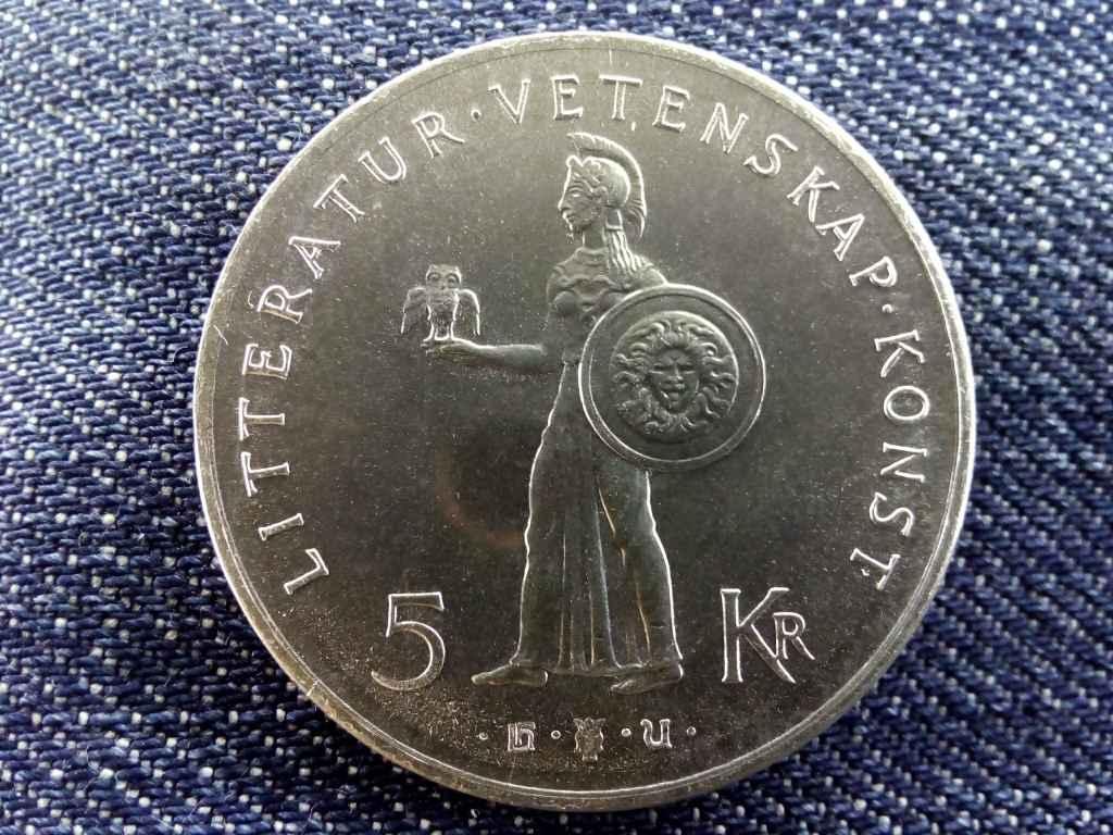 Svédország 80 éve született VI. Gusztáv Adolf .400 ezüst 5 Korona 1962 U