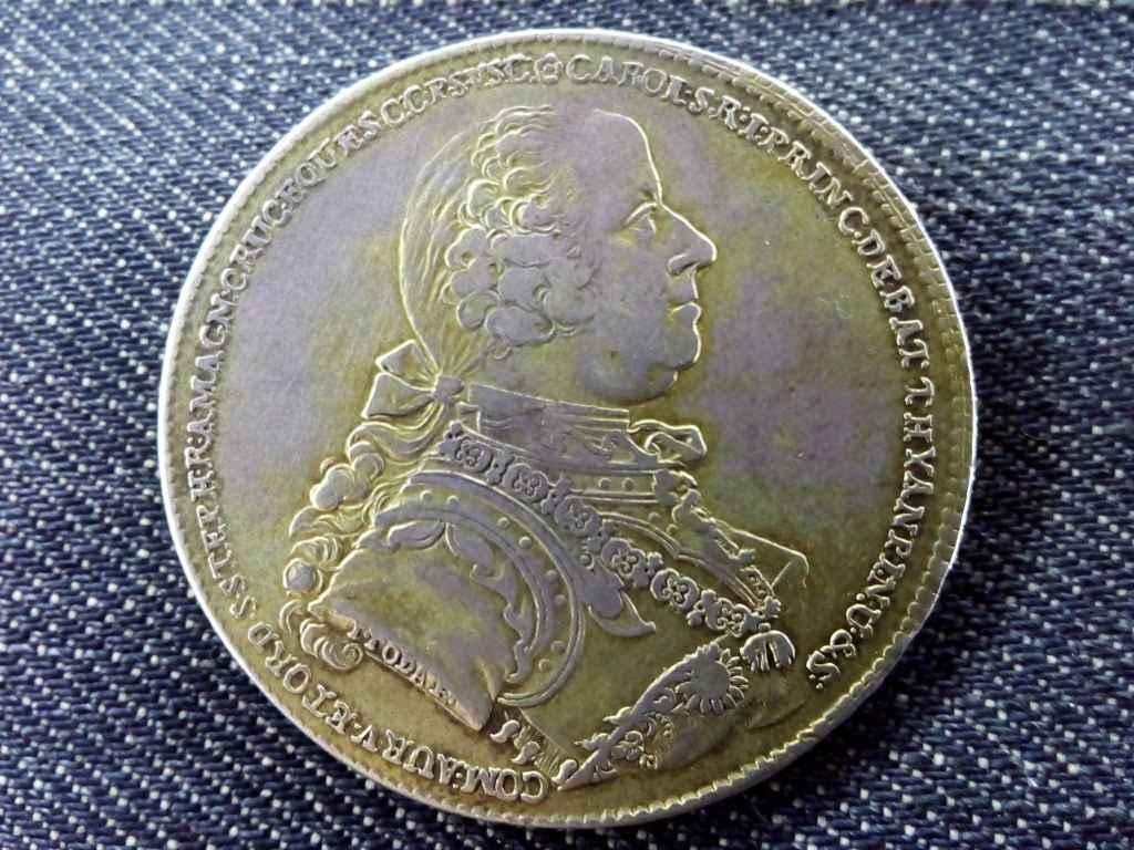 Nagyon ritka (csak 300 db!) Batthyány Károly ezüst 1 Tallér 1768