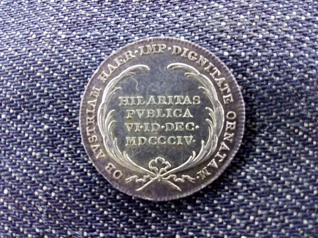 Ezüst emlékérem Ferenc osztrák császári címének felvételére 1804