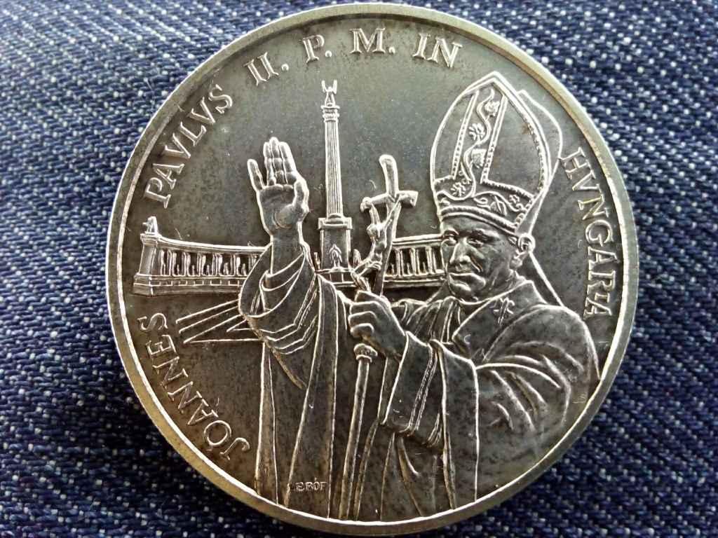II. János Pál pápa magyaroroszági látogatása emlékére ezüst 500 Forint 1991 BP BU