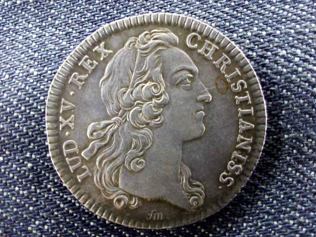 XV. Lajos francia ezüst zseton EXTRAORDINAIRE DES GUERRES 1741