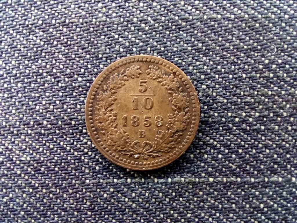 Ausztria Ferenc József 1/2 Krajcár 1858 B