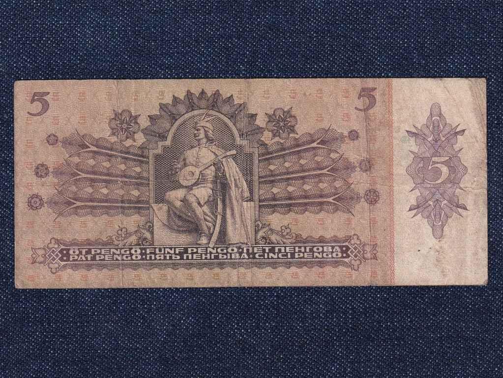 Háború előtti sorozat (1936-1941) 5 Pengő bankjegy 1939