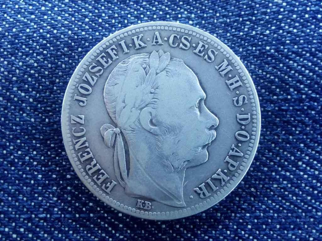 Ferenc József ezüst 1 Forint 1890 KB - Fiume címer