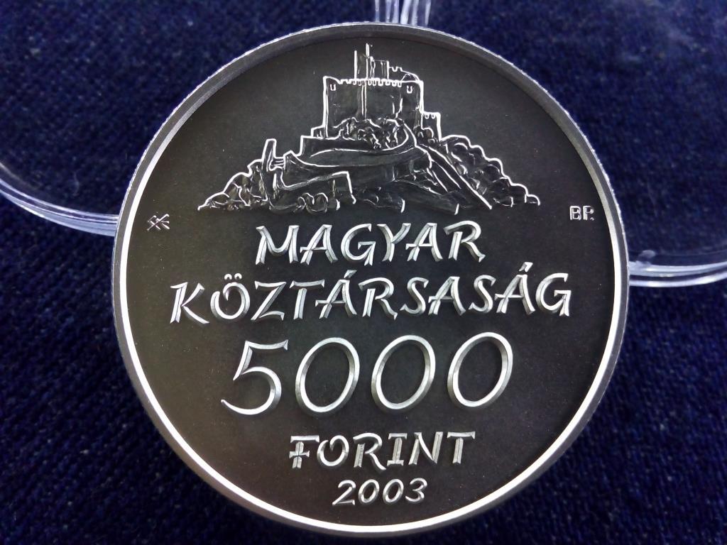 Hollókő .925 ezüst 5000 Forint 2003 BP BU