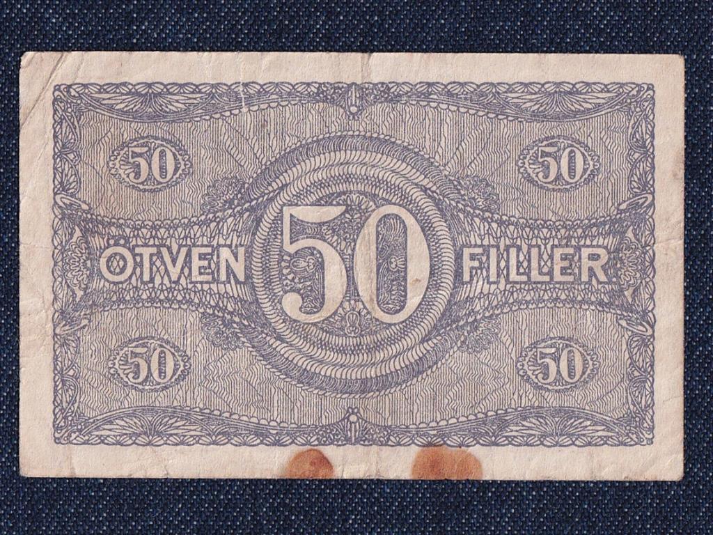 Pénztárjegy (1919-1920) 50 fillér bankjegy 1920