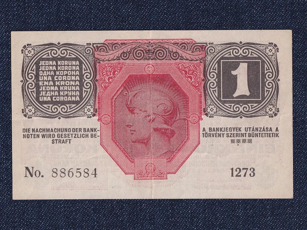Osztrák-Magyar Korona bankjegyek (háború alatt) 1 Korona bankjegy 1916