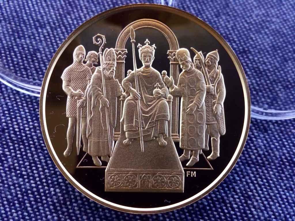 Államalapító Szent István .986 arany 100000 Forint 31,1g 2001 BP PP