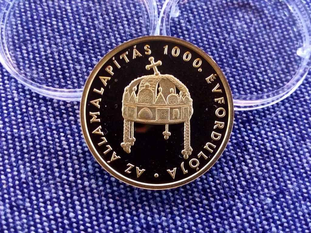 Az államalapítás 1000. évfordulója .986 arany 20000 Forint 6,982g 1999 BP PP