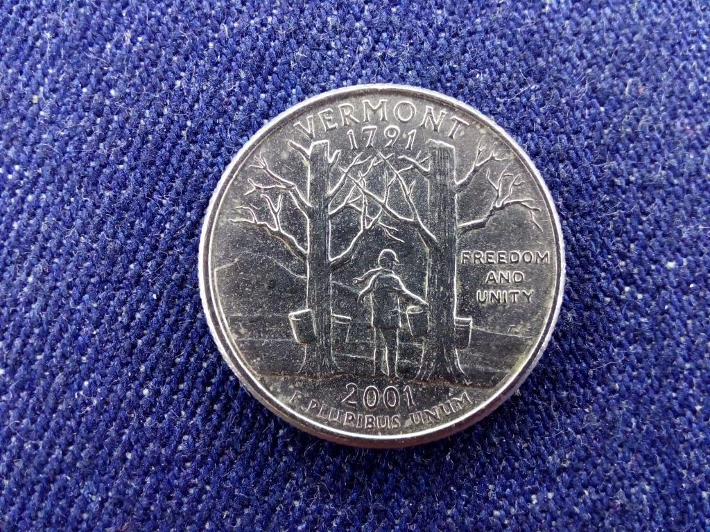 USA Vermont 1/4 Dollár 2001 P BU