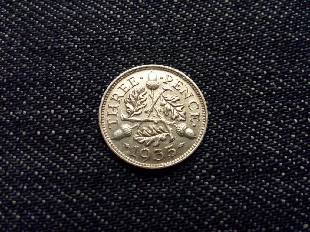 Anglia V. György .500 ezüst 3 Pence 1935