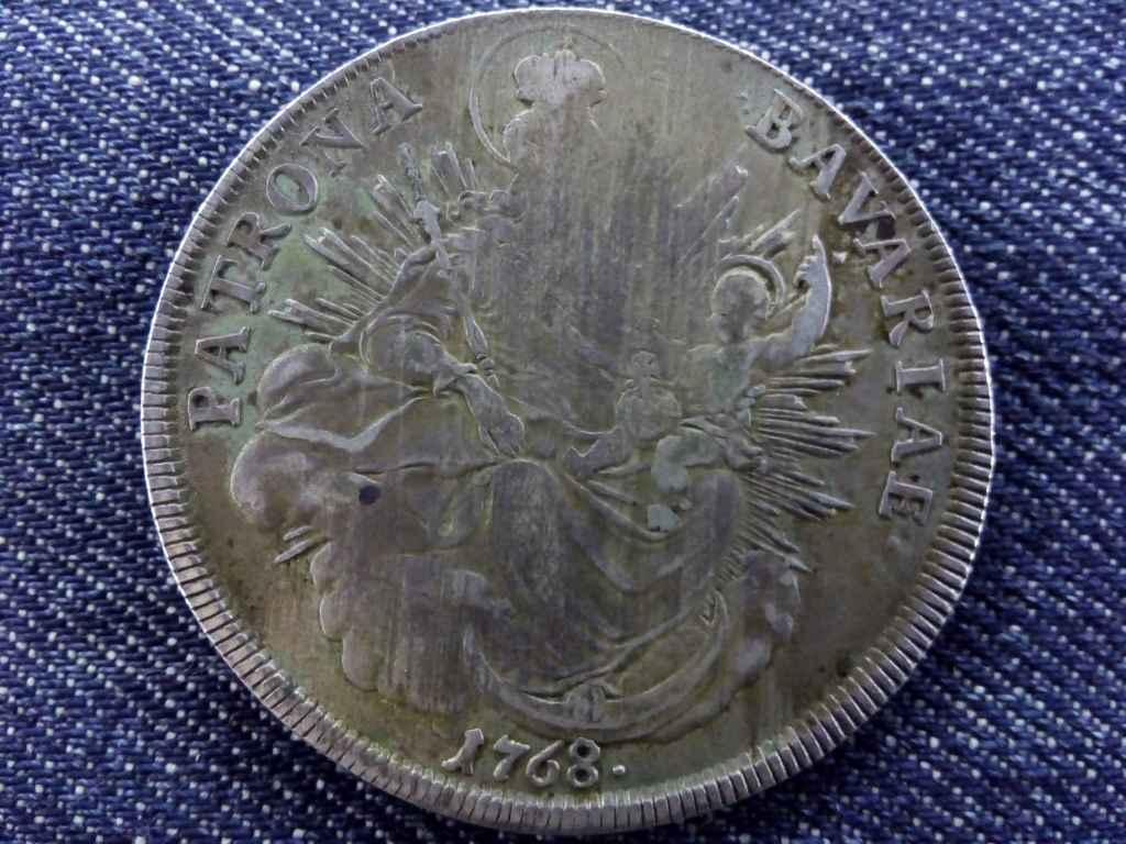Ezüst justírozott bajor tallér 1768
