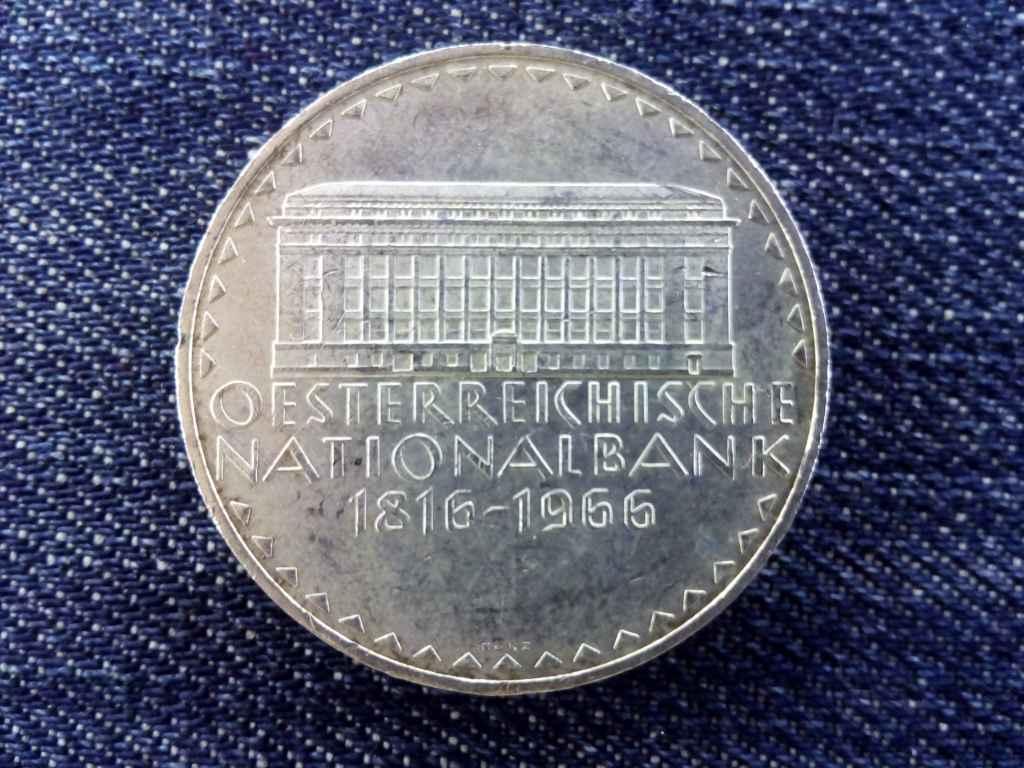 Ausztria A Nemzeti Bank 150. évfordulója .900 ezüst 50 Schilling 1966