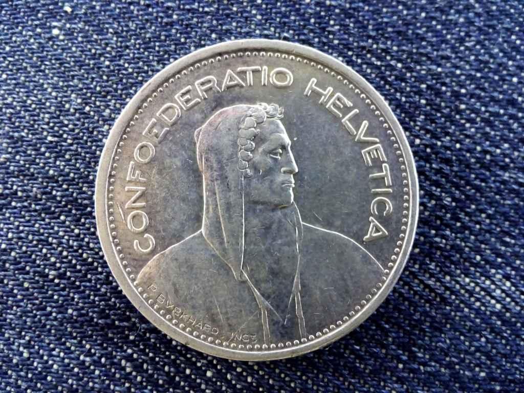 Svájc ezüst (.835) 5 Frank 1939 B