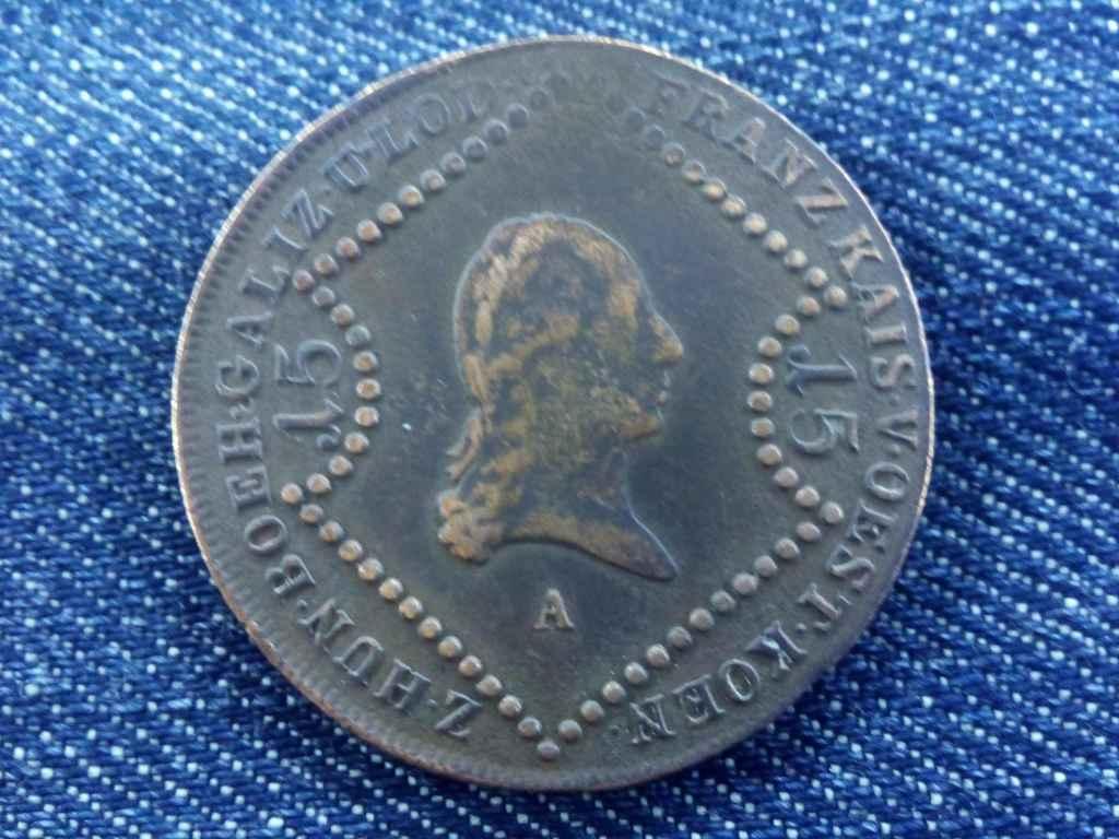 I. Ferenc 15 krajcár 1807 A