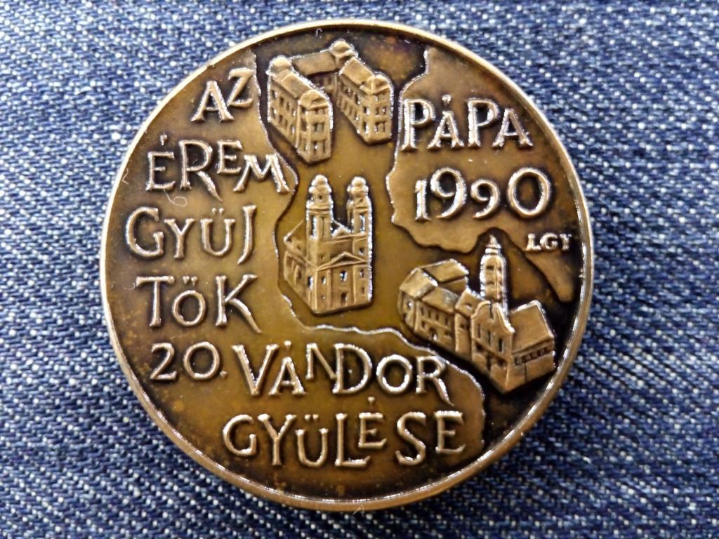 Magyar Éremgyűjtők Egyesülete Vándorgyűlés Pápa 1990