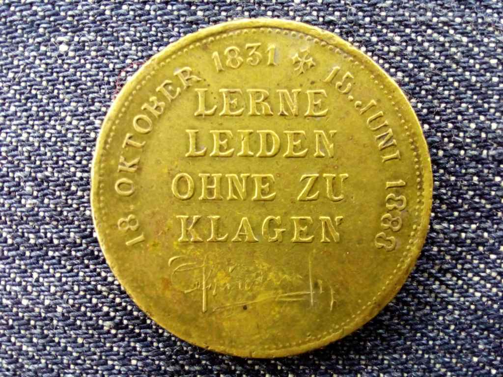 Németország III. Friedrich történelmi medál 1888