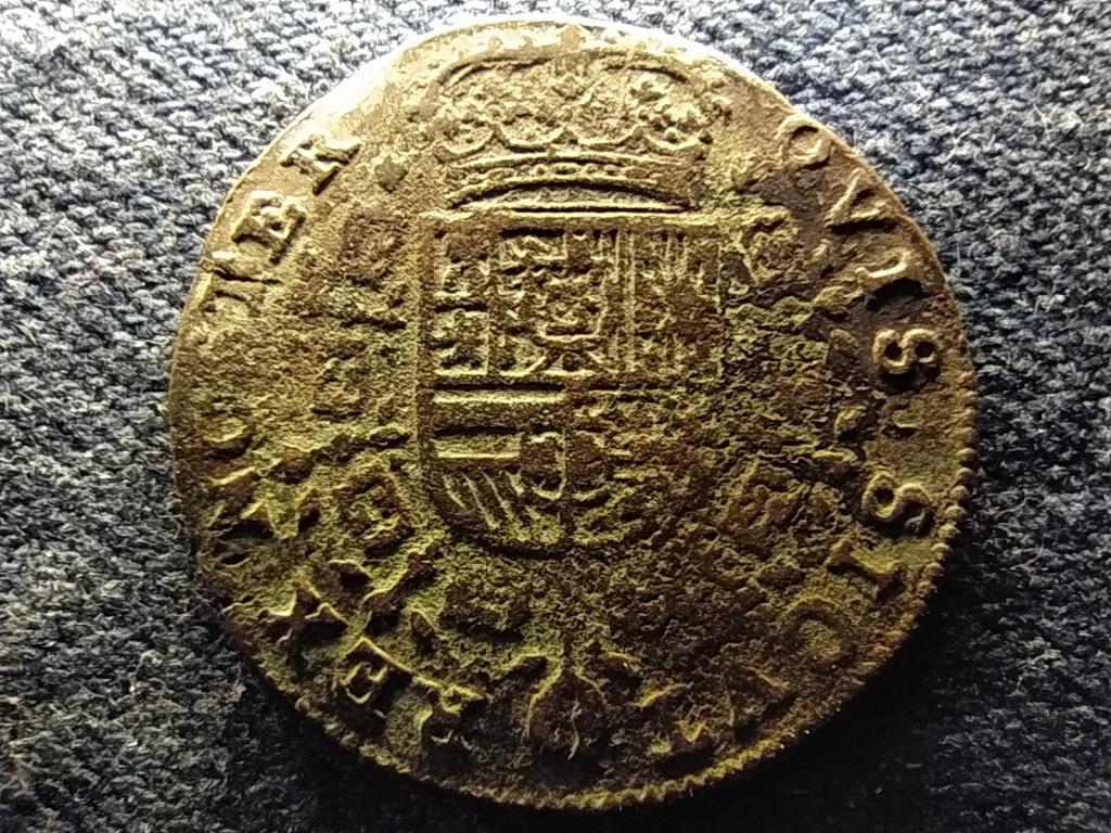 Belgium Brüsszel  IV. Fülöp Spanyol Németalföld réz zseton1658