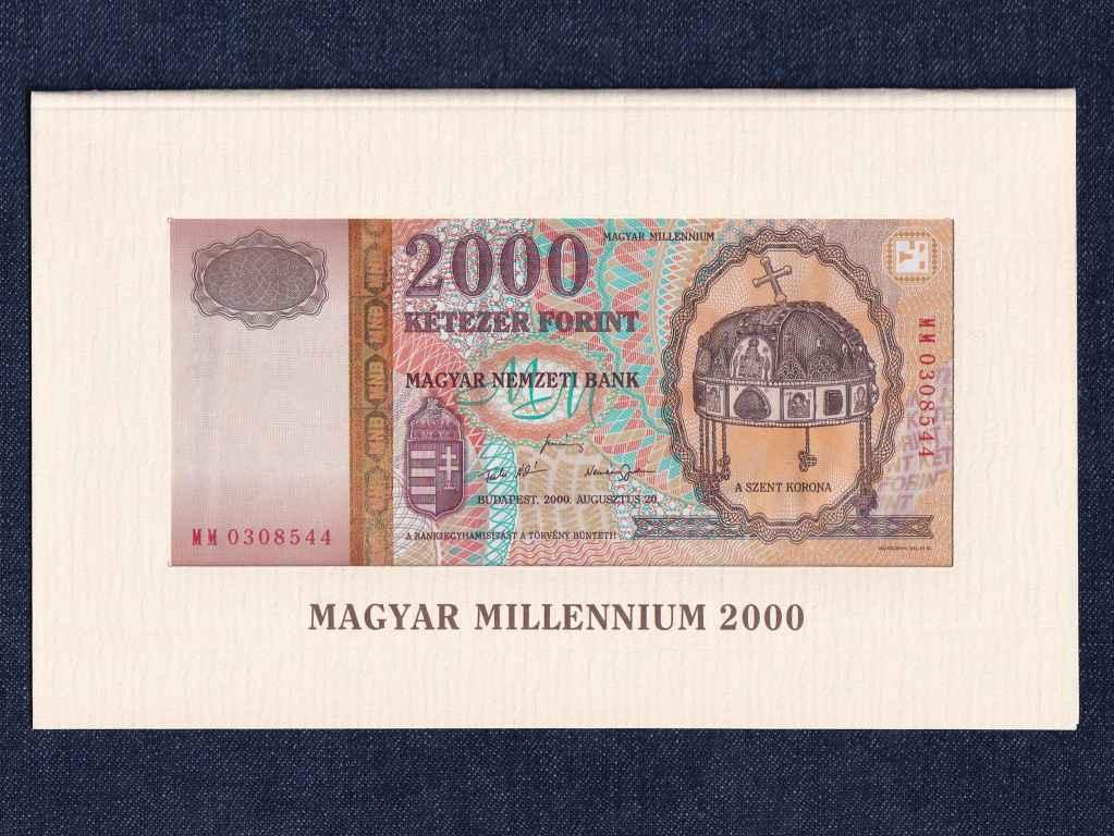 Millennium 2000 Forint bankjegy változó sorszám 2000