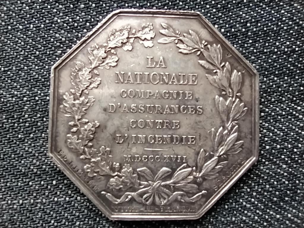 Franciaország Nemzeti tűzoltóság felállítása .900 ezüst történelmi zseton Barre 1830