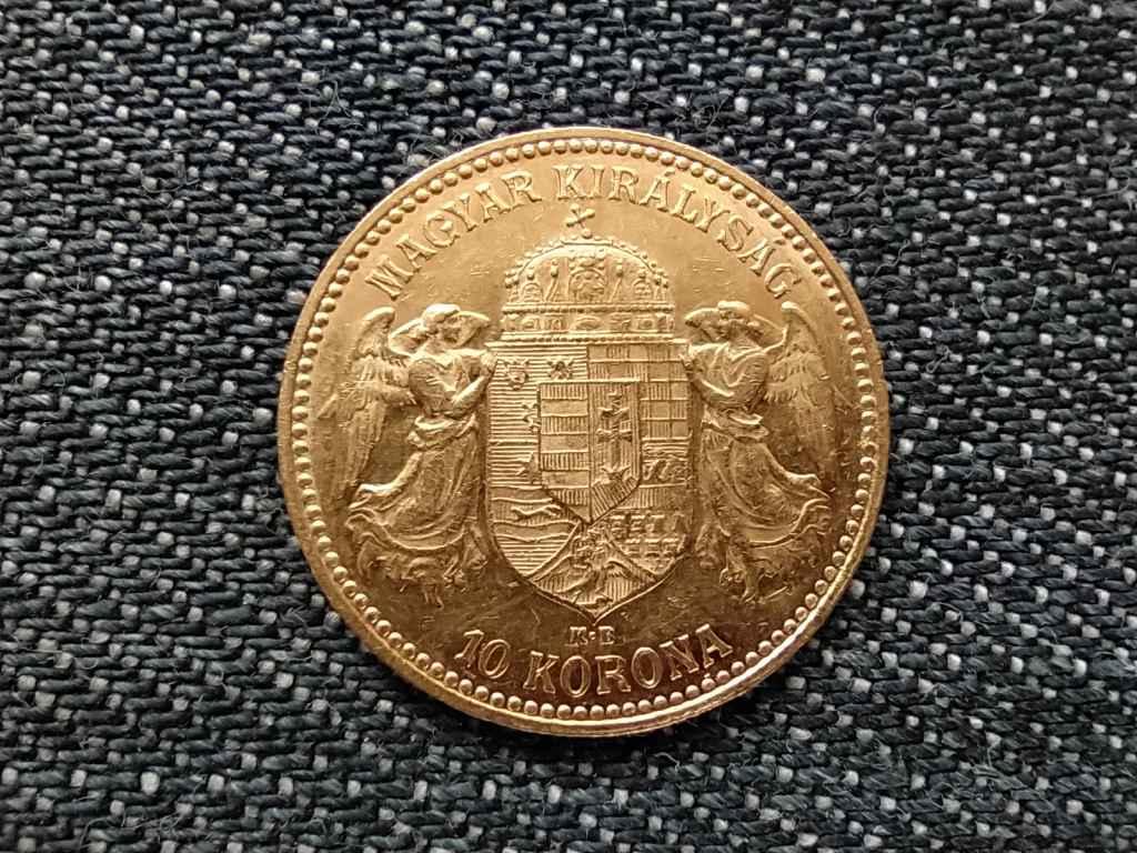 Osztrák-Magyar .900 arany 10 Korona 1908 KB BU