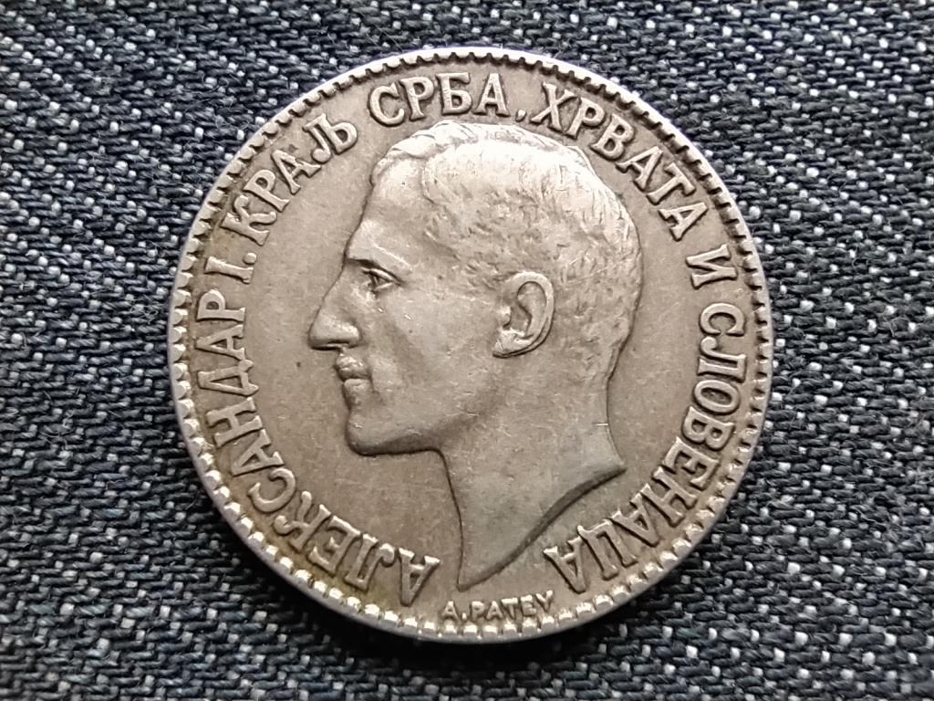 Jugoszlávia I. Sándor (1921-1934) extra szép 2 Dínár 1925 Poissy Mint