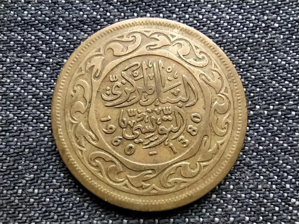 Tunézia szép 100 milliéme 1380 1960