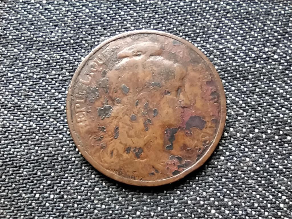Franciaország Harmadik Köztársaság 5 Centimes 1909