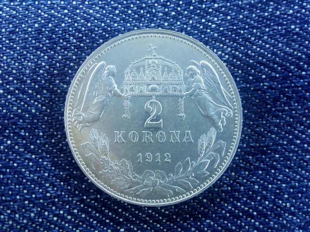 Extra szép ezüst 2 Korona 1912
