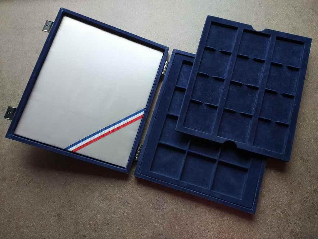 Érmetartó doboz 24 db 55 mm-es érmének