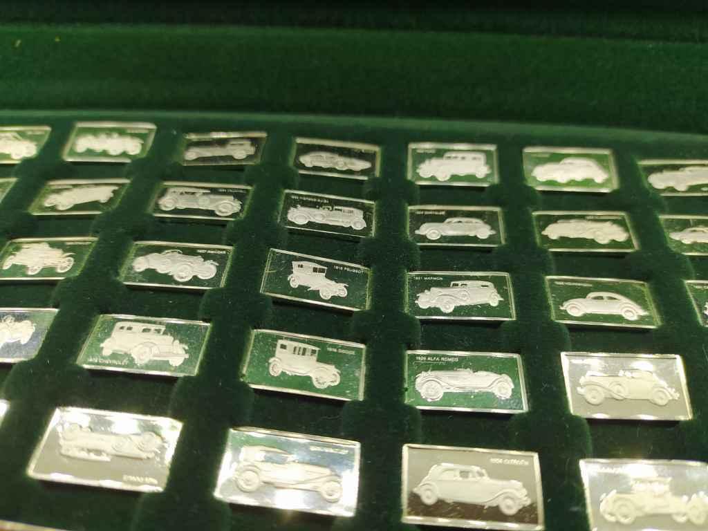 100 db-os Franklin autós Mini Ingot sterling ezüst lapka gyűjtemény