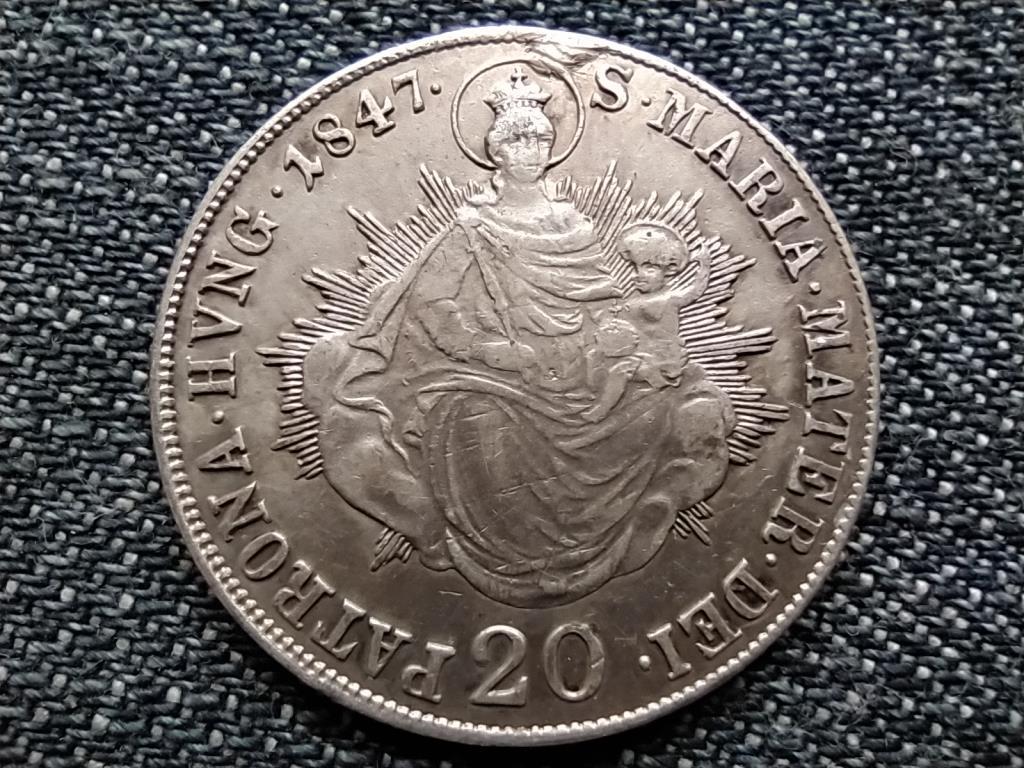 V. Ferdinánd (1835-1848) .583 ezüst 20 Krajcár 1847 B