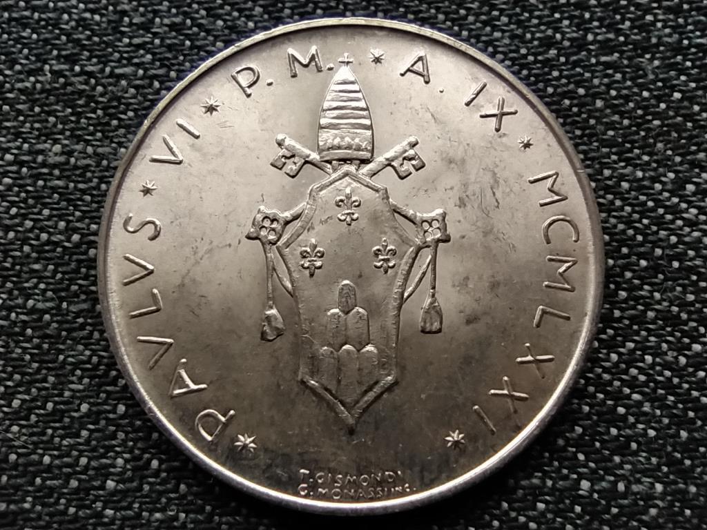 Vatikán VI. Pál szőlő .835 ezüst 500 líra IX 1971