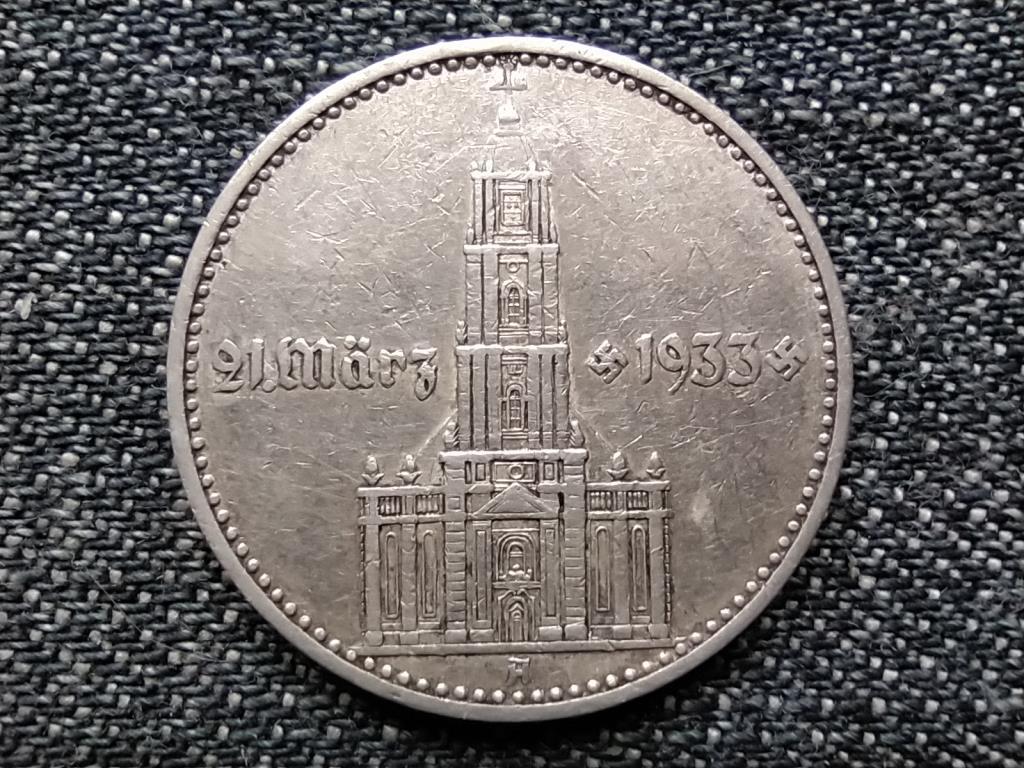 Németország A náci uralom 1. évfordulója - Potsdam templom .625 ezüst 2 birodalmi márka 1934 A