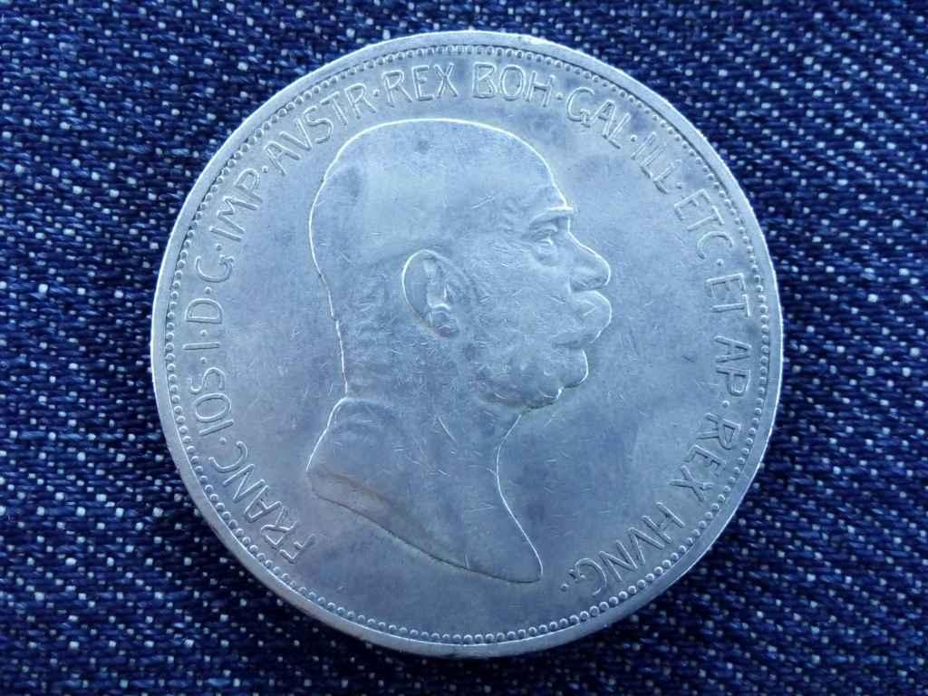 Ferenc József jubileumi ezüst 5 Corona 1908