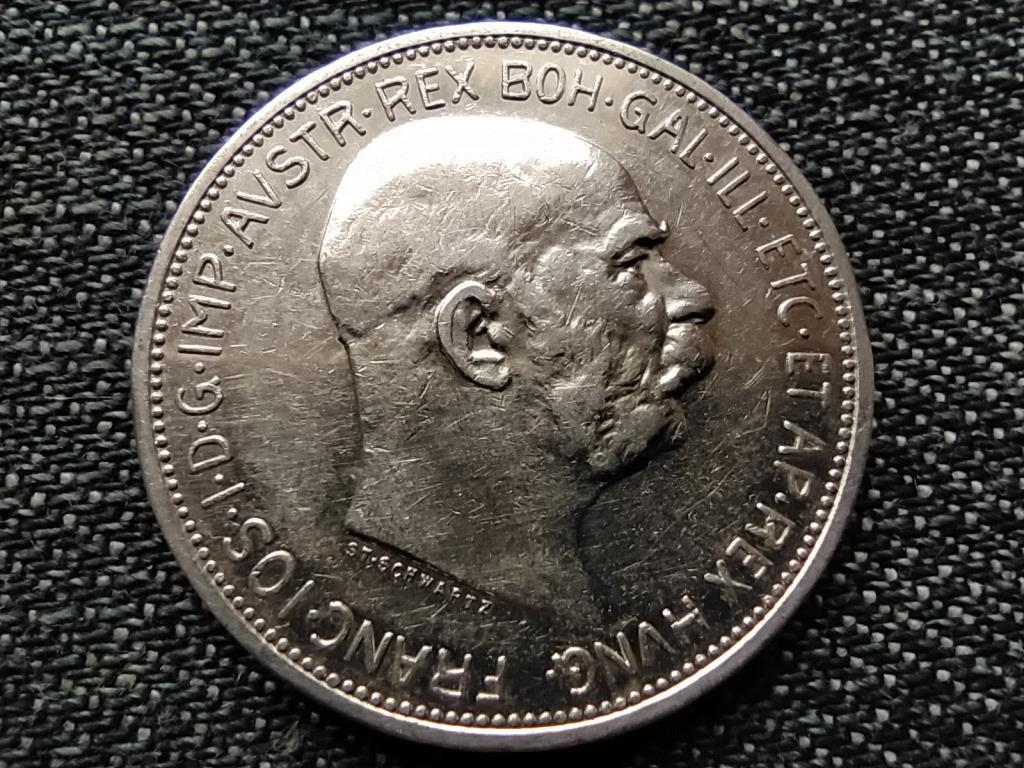 Ausztria Ferenc József .835 ezüst 2 Korona 1912