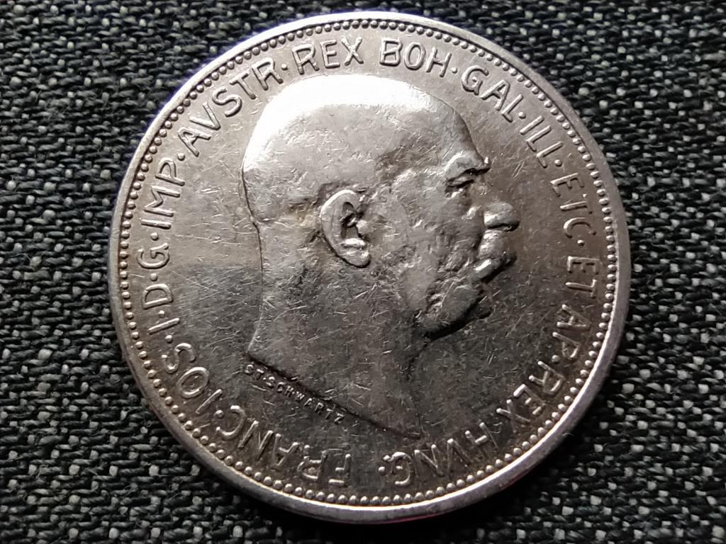 Ausztria Ferenc József .835 ezüst 2 Korona 1913