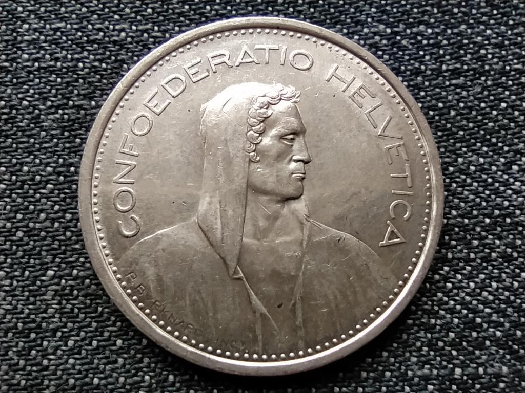 Svájc .835 ezüst 5 Frank 1967 B