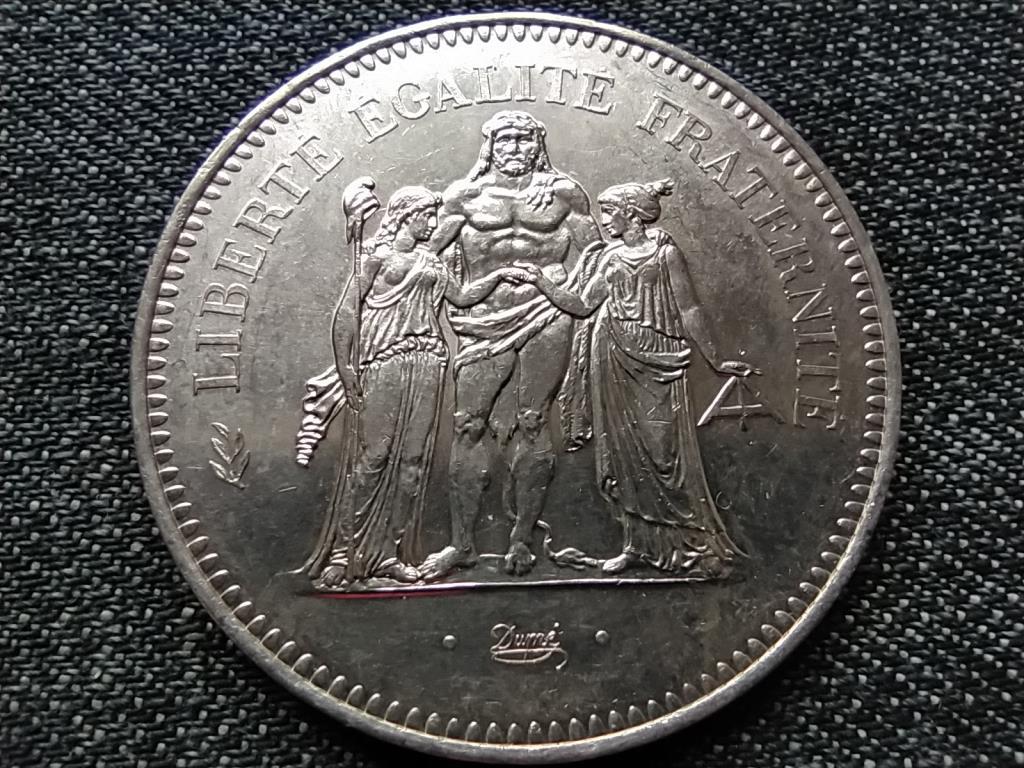 Franciaország Szabadság Egyenlőség Testvériség .900 ezüst 50 frank 1978