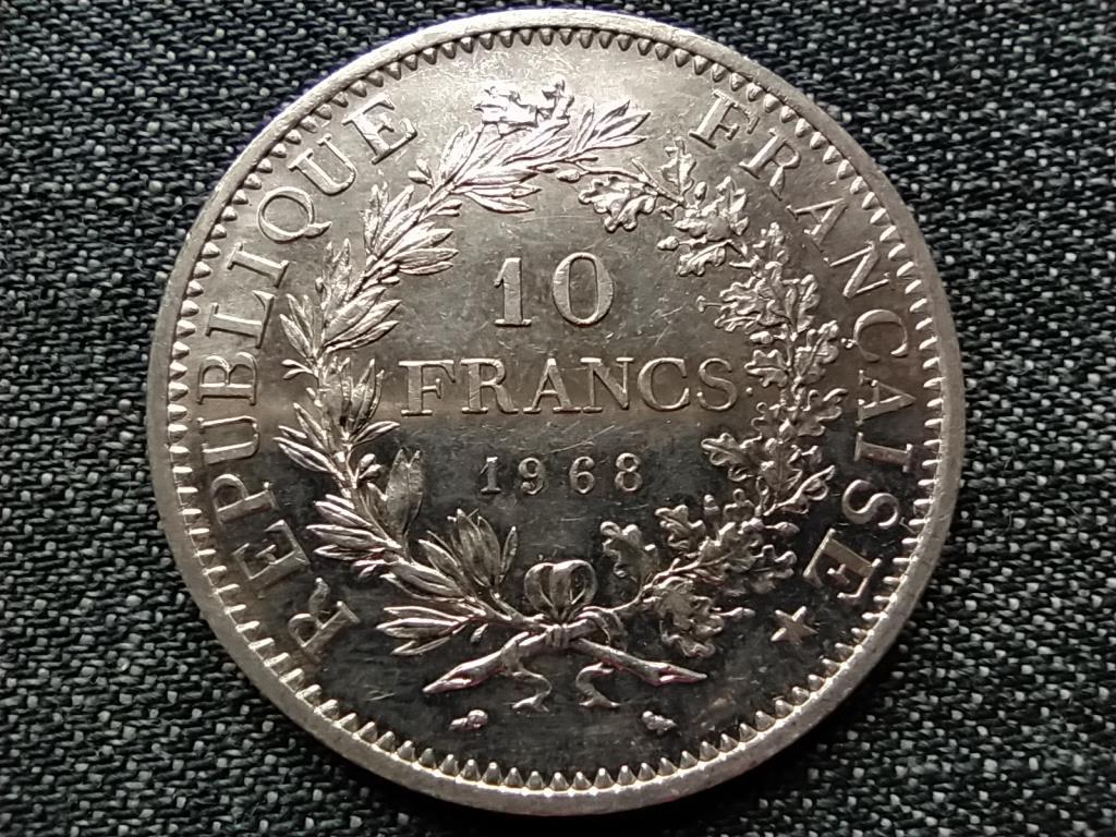 Franciaország ezüst 10 frank 1968