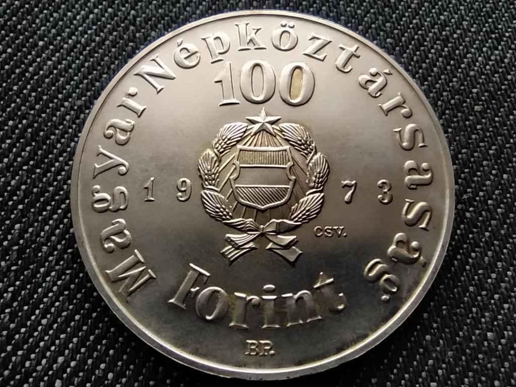 150 éve született Petőfi Sándor .640 ezüst 100 Forint 1973 BP BU
