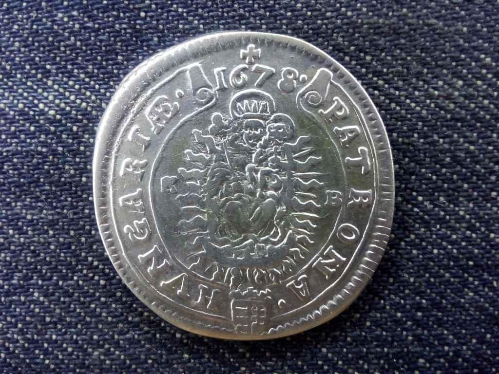Extra szép I. Lipót ezüst 15 krajcár 1678 KB