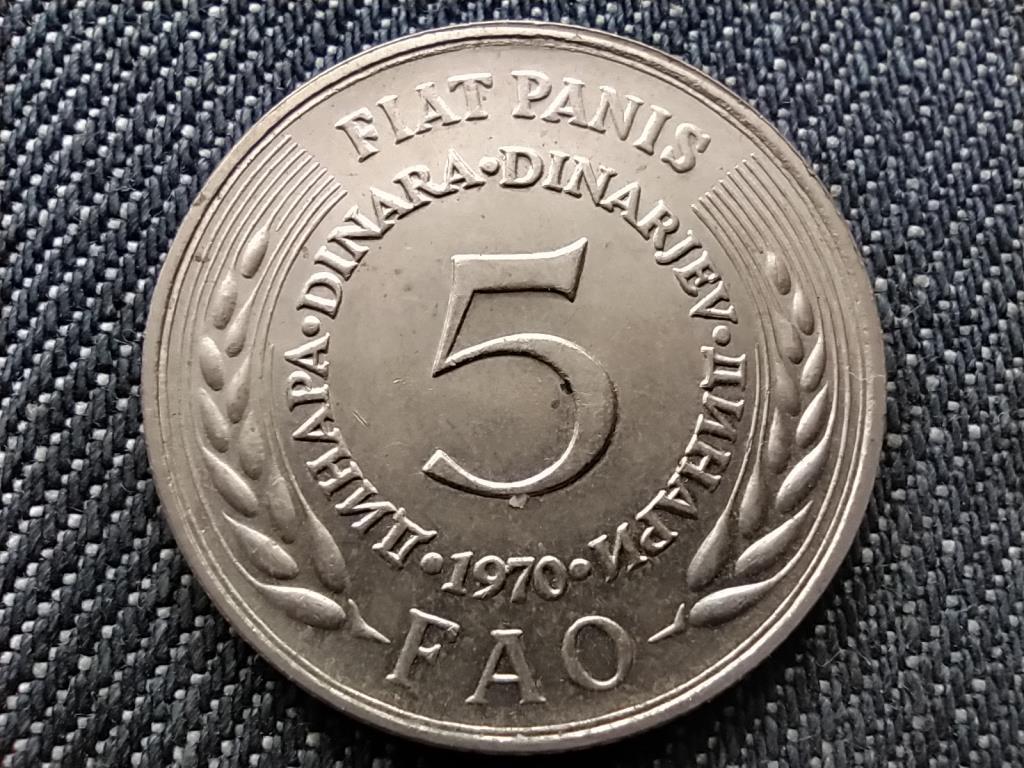 Jugoszlávia FAO 5 Dínár 1970