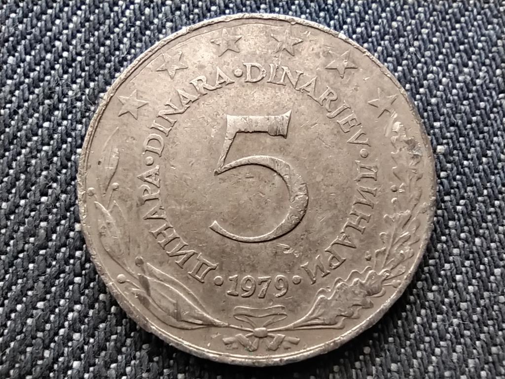 Jugoszlávia 5 Dínár 1979