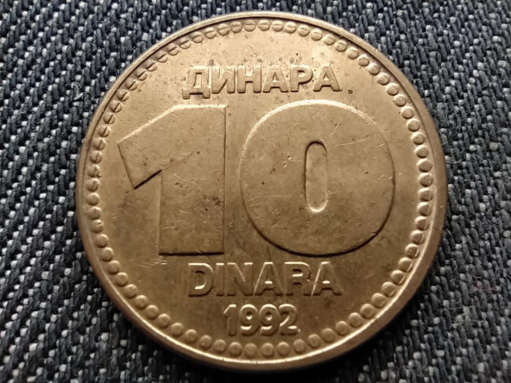 Jugoszlávia 10 Dínár 1992