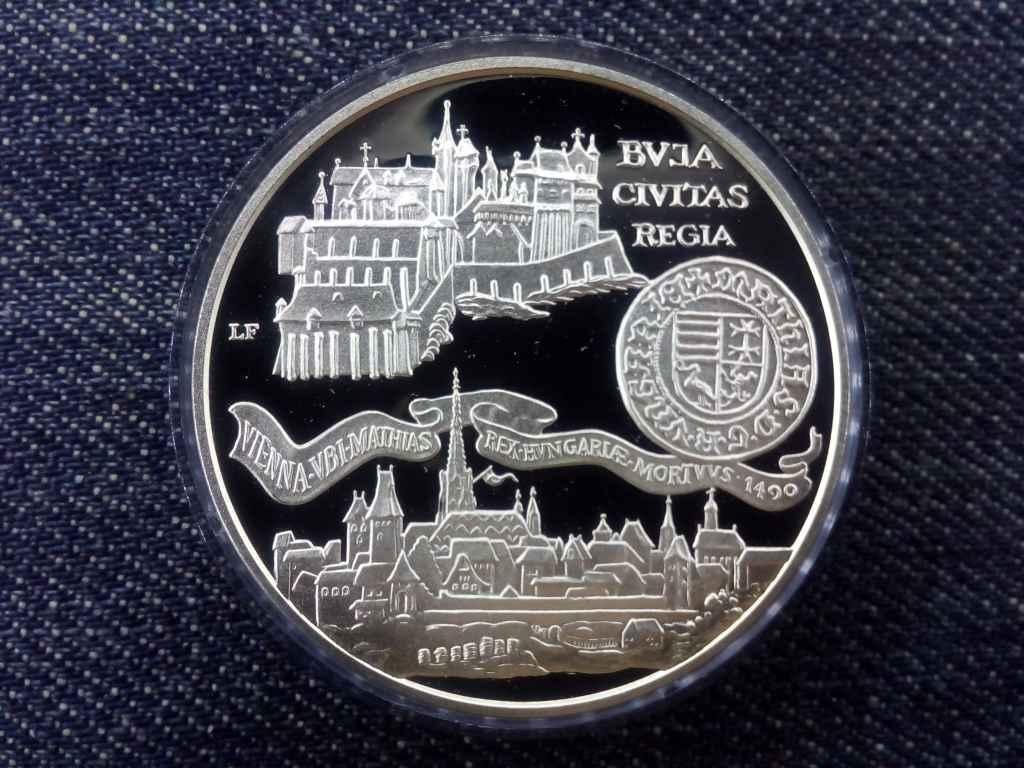 Buda Civitas Regia .900 ezüst 500 Forint 1990 BP PP
